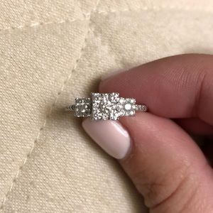 Jewelry - Real Diamond and white gold promise ring